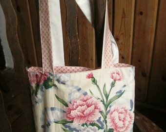 Little chintz tote, proceeds to charity, lined tote