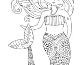 KPM Doodles Coloring page Mermaid