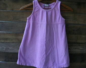 Vintage Pink Corduroy Dress by Flap Happy Size 3
