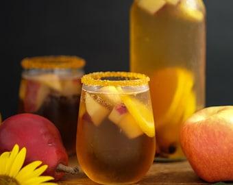 Cocktail rim sugar / autumn colored sugar / gold, yellow, orange rimming sugar - Halloween mocktails, Thanksgiving martinis, sparkle sugar