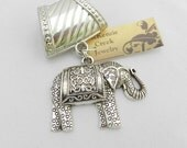 Elephant Scarf Pendant  ~ Scarf Accessory ~ Fall and Winter