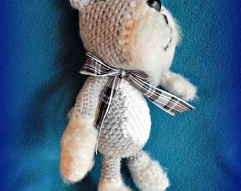 Schnauzer, Miniature or Standard Schnauzer Amigurumi, Schnauzer Stuffie, Baby Toy Schauzer, Dog Toy, Pet Replica, Cute Schnauzer Dog Doll
