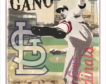 "St. Louis Cardinals Gashouse Gang Print - 13""x19"" or 24"" x36"" print - St. Louis Cardinals fan poster Boys room Man Cave Fathers Day gift"
