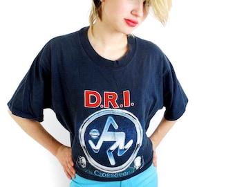 Vintage DRI shirt 80s Tee Punk Tee