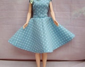 """Handmade 11.5"""" Fashion Doll Clothes. Full circle skirt with a fully lined bodice dress."""