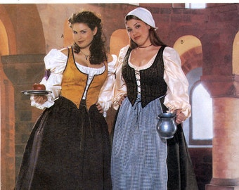 Butterick 6198 Sewing Pattern for Women's Historical Costume - Uncut - Size 16W, 18W, 20W