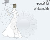 JEWELERY JEWELRY display cards for bridesmaids earrings, pendants, can be personalized 526,  Instant download