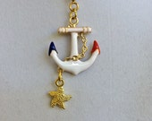 New Anchor Gold and Starfish Necklace