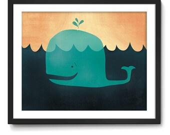 Lil' Mr. Whale Art Print