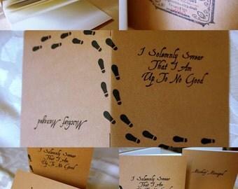 Fandom Themed Mini Notebooks/Sketchbooks (Set of 2)