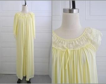 1960s Gilead Yellow Peignoir Set