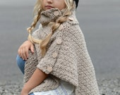 Knitting Pattern Cape Child : Inspired by nature knit & crochet pattern by Thevelvetacorn