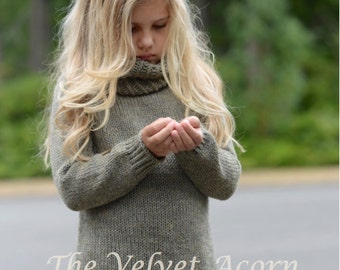 KNITTING PATTERN-The Harbor Pullover 12/18m, 2, 3, 4/5, 6/7, 8/10, 12/14, xs, s, s/m, m, l, xl, ...