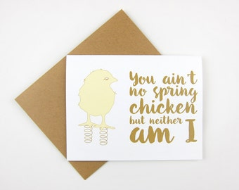 Spring Chicken: Birthday Card