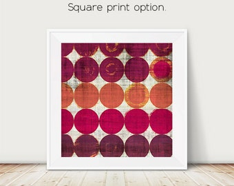 marsala, dots, abstract art, geometric art, circles, modern painting, abstract painting