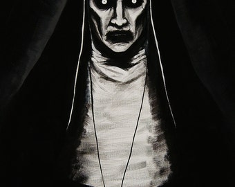 Hand painted Valak (The Conjuring 2) LARGE poster print
