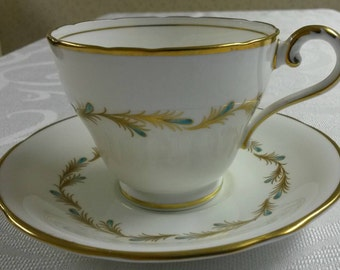 Aynsley Tea Cup and Saucer; Viscount Pattern circa 1930's-  952