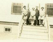 "Vintage Photo ""The Detention Gang"" School Snapshot Photo Antique Photo Black & White Photograph Found Photo Paper Ephemera Vernacular - 197"