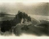 "Vintage Photo ""Witch Island"" Snapshot Photo Old Antique Photo Black & White Photograph Found Photo Paper Ephemera Vernacular - 187"