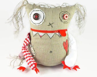 Worry Monster Doll - Stuffed Monster Toy - Halloween Gift - Christmas Gift - Personalized Monster Doll