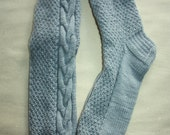 26,5 cm /// 10,4 inches Gorgeous Woolen Hand Knitted Socks-Perfectly keep heel - Winter Socks - US Men 8,5 /// US Women 10 /// EU 41 - 42