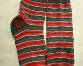 31 cm /// 11,8 inches Gorgeous Hand Knitted Christmas Socks - Perfectly keep heel - Winter Socks - US Men 13 /// US Women 15 /// EU 47