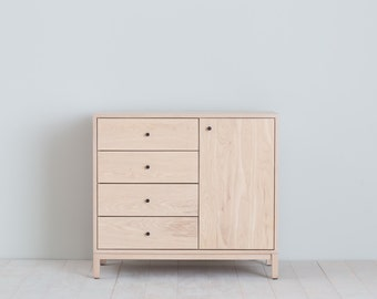 Berkeley Dresser - Solid Ash with Milkweed Stain - Oil Rubbed Bronze Hardware - Available in other woods