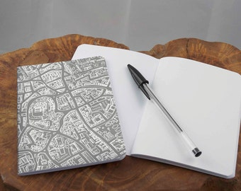 A6 Grey map Notebook