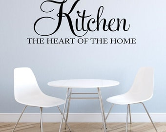 Kitchen Wall Decal Kitchen the Heart of the Home Wall Decal Kitchen Decal Vinyl Wall Decal Kitchen Wall Decor Kitchen Vinyl