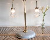 Vintage Lighting, Designer desk Lamp, Table lamp, Azure  lamp, Brass lamp, Mason jar light , Handmade lighting by StudiORYX