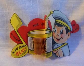 Vintage 40s Valentine Policeman Honeycomb Drum