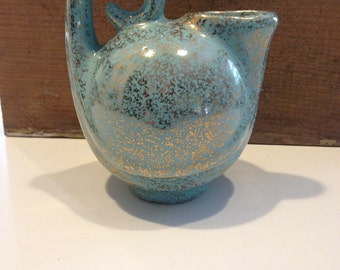 Vintage Pottery NOR-SO teal creamer