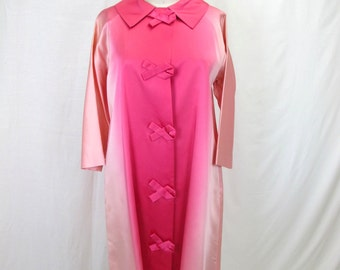 1960s Pink Ombre Evening Coat