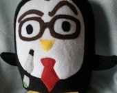Plush Dr Who Penguin Pillow Pal, Baby Safe, Machine Wash and Dry