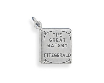 Sterling Silver Great Gatsby Book Charm Pendant