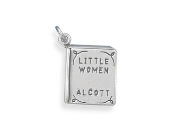 Sterling Silver Little Women Book Charm Pendant Literature School