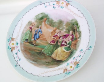 Antique Cabinet Plate / Sevres, French Porcelain, Decorative Plate, Hand Painted Artist Signed - Victorian Painting,