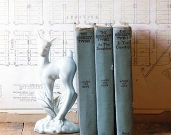 Set of Vintage Blue Bobbsey Twins Books - Great Kids Room Decor!