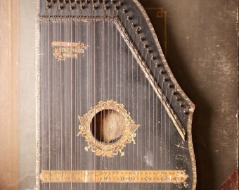 Vintage Menzenhauer's Guitar Zither patented in 1894 - Beautiful Wedding Decor