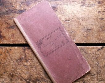 Vintage Small Soft Cover Blank Ledger from 1911
