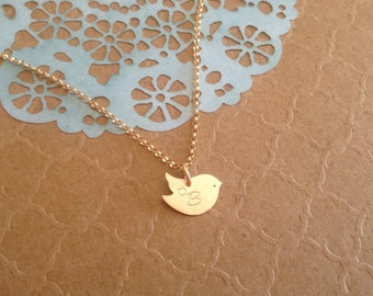 Personalized Little Bird Necklace