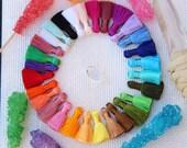 "Mini Art Silk Tassels, Handcrafted, Beautiful Quality, 8+, Handmade Jewelry Making, Mala, Bracelet, Craft Supply, 1.25"", You Choose Colors"