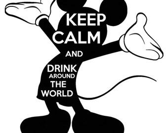 Drink Around the World- Tshirt design Mickey