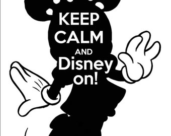 Minnie- Keep Calm and Disney on tshirt design