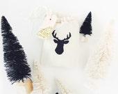 Black Glitter Favor/Gift Cloth packaging Bags  - Deer Antlers