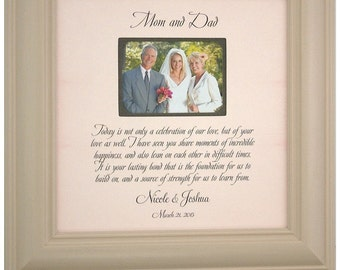Parents of the Bride Gift, Mother Father of the Bride Groom Gift , Parents Wedding Thank You Gift, Wedding Frame, Celebration Of Love, 16x16