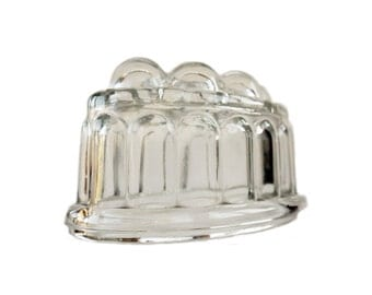 Glass Jelly Mould  Jello Mould