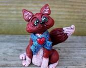 Winter Fox Polymer Clay Sculpture