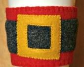 Santa Belt Felt Cup Cozy