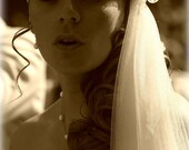 Wedding Veil Hat Chantilly Lace Vintage Style Bridal Veil Cap